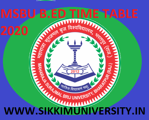 Brij University BED Date Sheet 2021 - MSBU B.Ed First year Second year Exam Time Table 2021 1