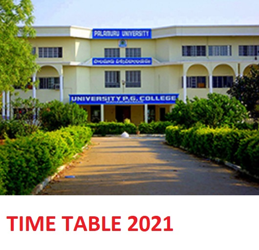 Palamuru University Ist, 3rd, 5th Sem Time Table Nov. 2020-2021 - PU UG PG Degree Exam Schedule Download 1