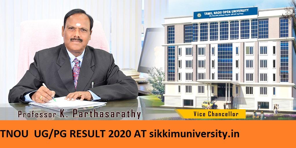 TNOU Ist/2nd/3rd Year Results 2021 BSC BA BCOM MA MSC MCOM TN Open University 1