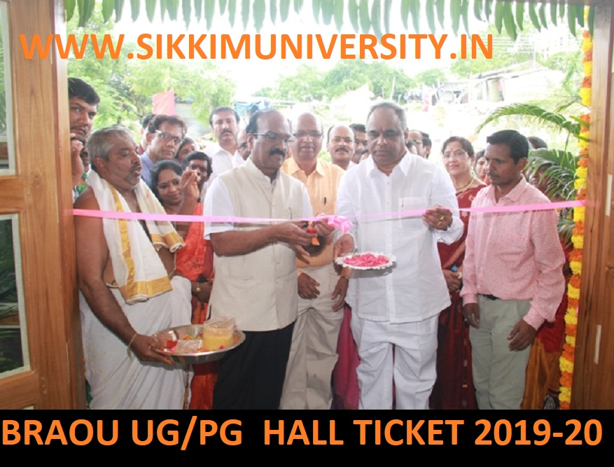 BRAOU Hall Ticket 2019-20 (Released) - Download BRAOU UG Spell Admit Card 2019 1