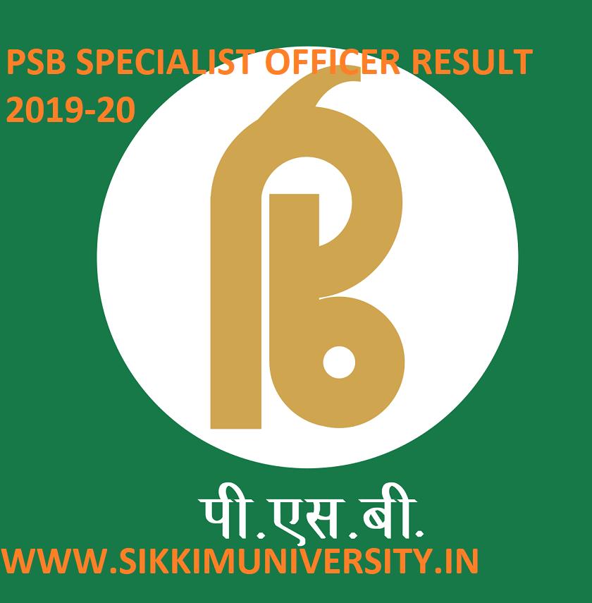 Punjab And Sind Bank SO Result/Merit List 2019 - Download PSB 168 Specialist Officer Scorecard Cut Off 2019 1