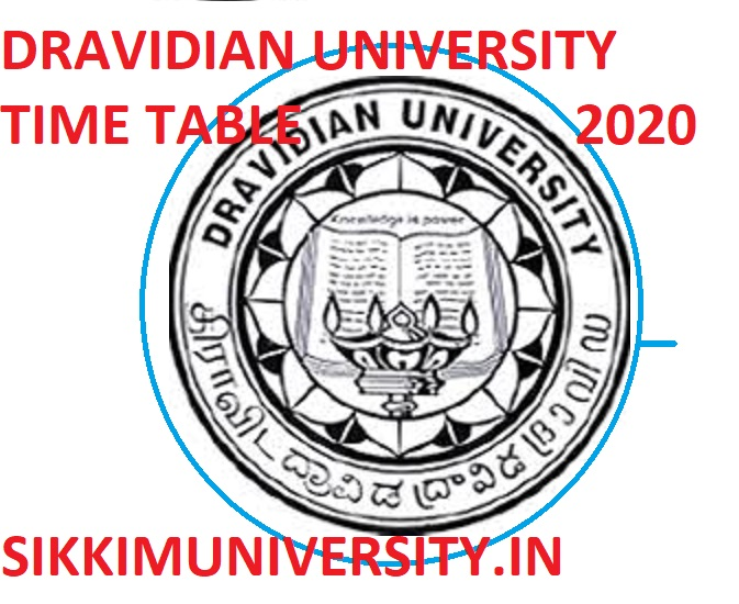 Dravidian University DDE Date Sheet 2020 - Downbload BSC MA BCOM MCOM BA Exam Time Table 2020 1
