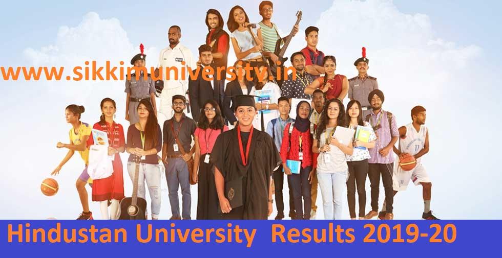 Hindustan University UG/PG Semester Results 2019-20 at hindustanuniv.ac.in 1