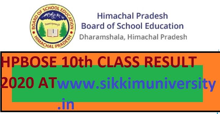 HP Board 10 Result 2020 - Himachal Pradesh Board Class 10th Result Released in April 2020 1