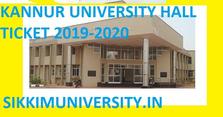 Kannur University UG/PG & Other Professional Courses Hall Ticket 2019-20 1