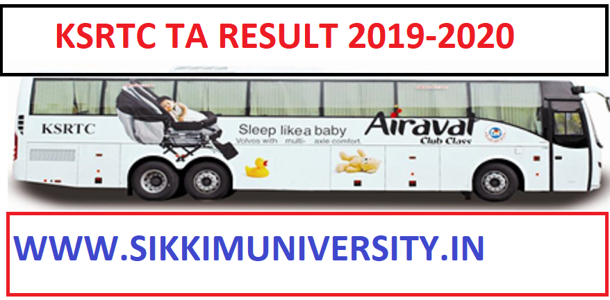 KSRTC 726 Technical Assistant Result/Merit List 2020 - Karnataka TA Result/Cut Off Marks 2019-20 Download PDF 1