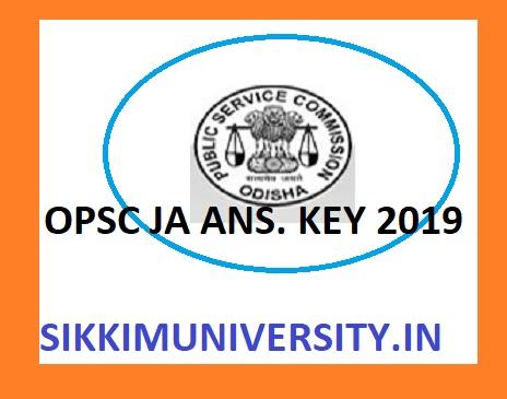OPSC Jr. Assistant Answer Key Exam December 7 & 8, 2019 - Odisha PSC Junior Assistant Exam Cut of Marks, Key at Opsc.gov.in 1