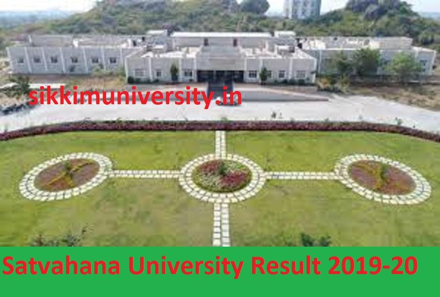 Satvahana University Degree Results Nov 2020- Satvahana University UG/PG Results 2020 1