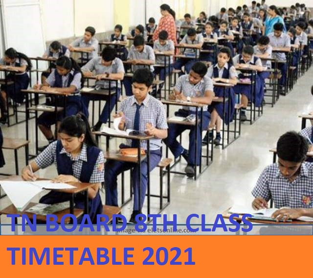 TN Board 8th Date Sheet 2020-21 Tamil Nadu ESLC Private Exam Time Table Download 1