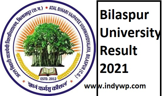 Bilaspur University Results 2021 for Part Ist, 2nd, 3rd B.Sc, BA, BCOM, MA Exam Results 1