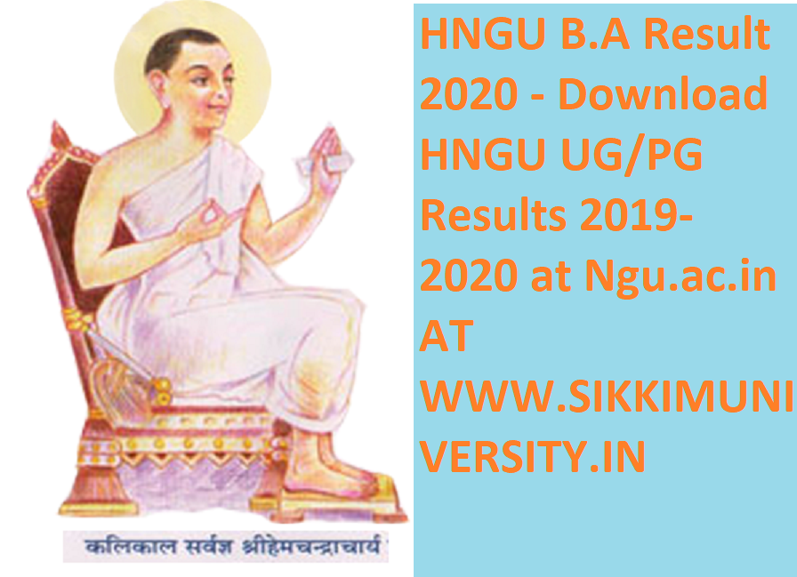 HNGU  B.A Result 2020 - Download HNGU UG/PG Results 2020 at Ngu.ac.in 1