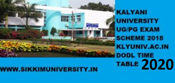 Kalyani University Schedule/Time Table 2021, Kly.ac.in Part I, II, III, DODL UG/PG Date sheet 1