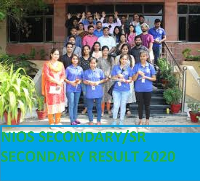 NIOS 10th/12th April/May Results 2020 - NIOS Results 2020 Class Sr Secondary /Secondary May Exam 1
