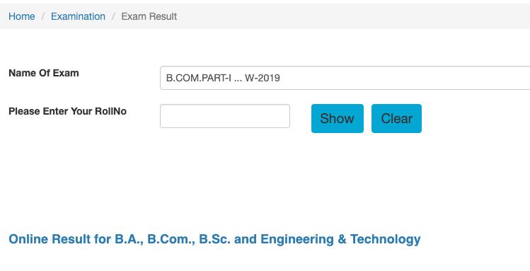 SGBAU B.Com Part I, II, IIIrd year Result 2020