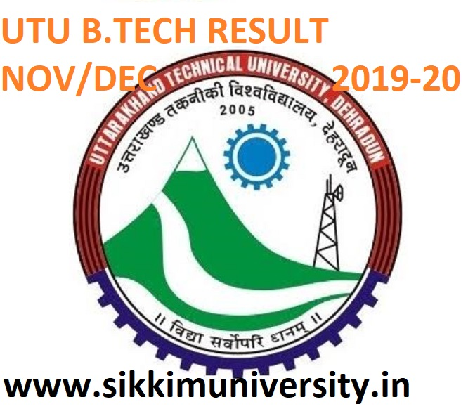 UTU Dehradun B.Tech 1/3/5/7 Sem. Results 2021 UTU B.Tech Odd Sem Winter Exam Result 2021 1