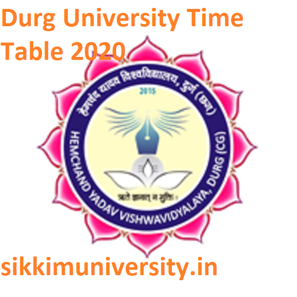 Durg University Date Sheet 2020 - Durg University BA BCOM BSC MA MCOM Exam Time Table 2020 Download 1