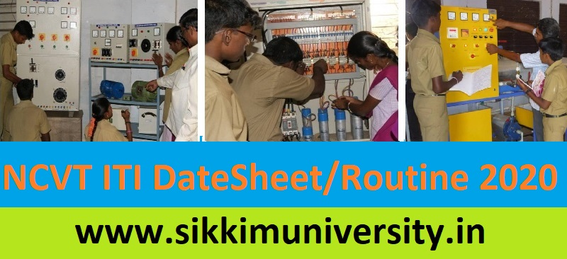 NCVT ITI Date Sheet 2020 Download ITI First, Second Year AITT June Exam Time Table 1