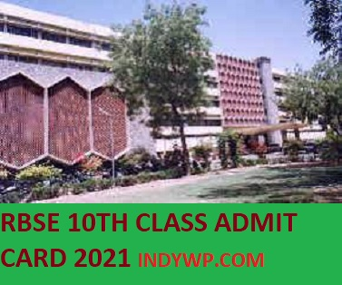 RBSE 10th Admit Card February 2021, Rajasthan Board 10th class Roll Number 2021 1