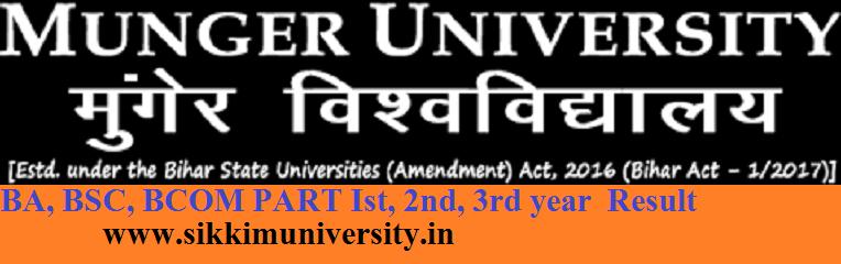 Munger University Ist 2nd 3rd Results 2021 BA BSC BCOM Exam @mungeruniversity.ac.in 1