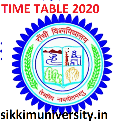 Ranchi University Exam Scheme 2020 BCOM BA BSC MA MCOM Exam Time Table 1