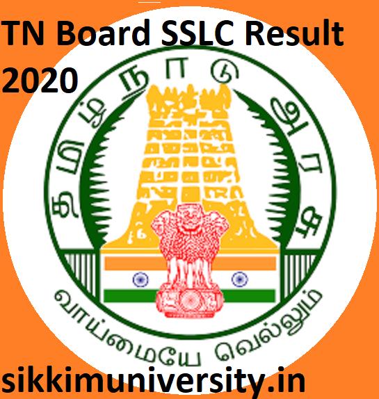 TN Board SSLC Result 2020 - Tamil Nadu Board 10th Class Result 2020 Date at tnresults.nic.in 1