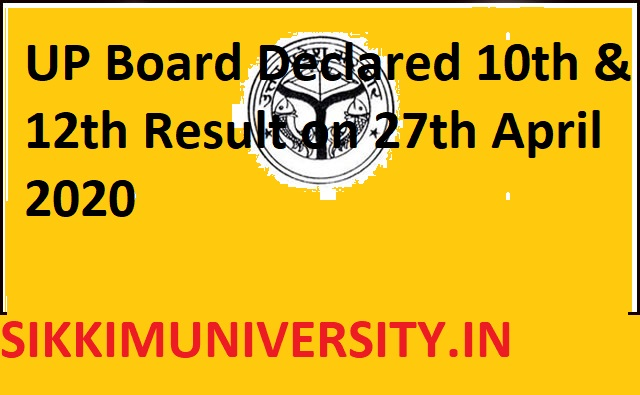 UP Board Declared 10th &12th Result on 27th April 2020- UP High School Results 2020 Tomorrow at upresults.nic.in 1