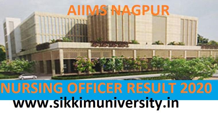 AIIMS Nagpur 100 Nursing Officer Gr-II Result/Merit List 2020 - AIIMS Nagpur Staff Nurse Cut Off Marks/Scorecard 2020 1