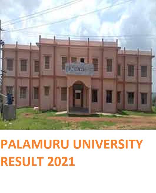 Palamuru University CBCS UG 1st/3rd/5th Sem Result 2021 BA BCOM BSC BED 1