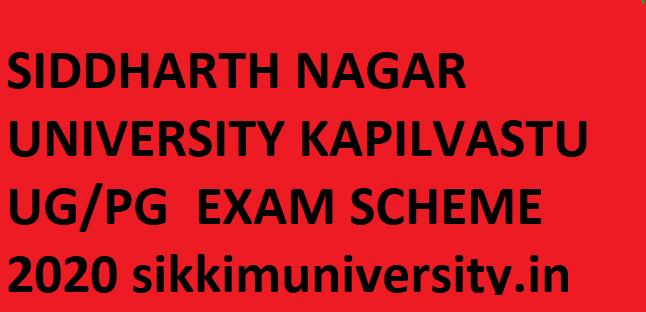 Siddharth University Exam Scheme 2021 - Siddharth University Ist/2nd/3rd B.Ed BA BSC BCOM MA Exam Date Sheet 2021 Download 1
