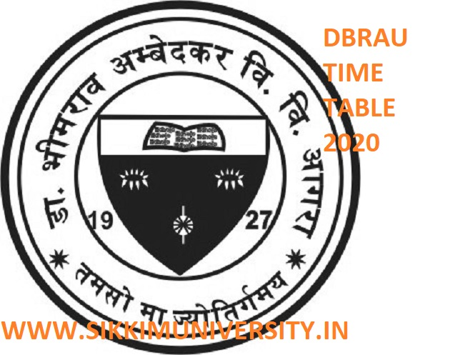 DBRAU B.Ed Date Sheet 2020- Agra University BED Part I, II Year Exam Schedule/Scheme 2020 Download 1
