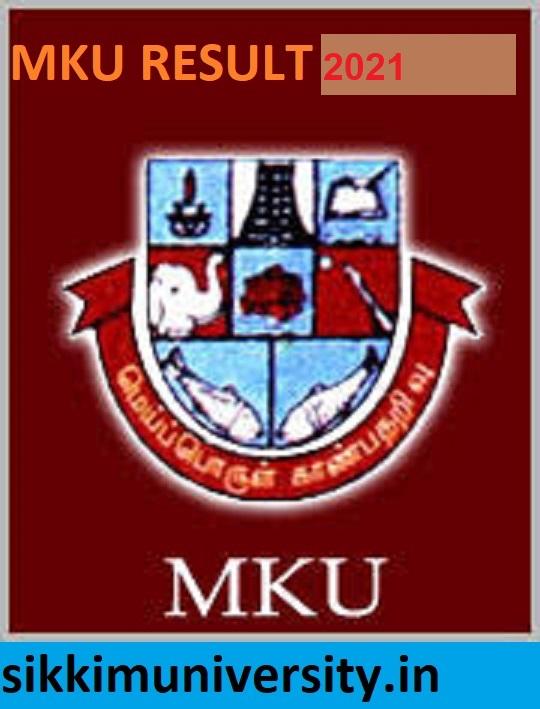 MKU Results 2021 BA BCOM B.Ed BSC MA 1/2/3/4/5/6 Sem Results at Mkuniversity.ac.in 1