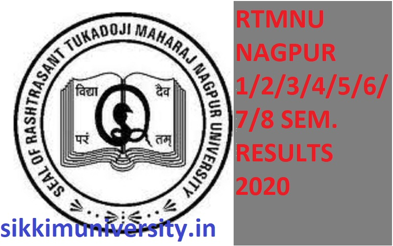 Nagpur University Result 2020 BA BCOM BSC B.Ed MA 1/2/3/4/5/6/7/8 Sem Exam Results at nagpuruniversity.org 1