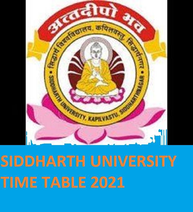Siddharth University Exam Scheme 2021 - Siddharth University Ist/2nd/3rd B.Ed BA BSC BCOM MA Exam Date Sheet 2021 Download 2