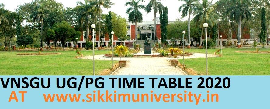 VNSGU Time Table March 2020 B.Ed BA BSC BCOM MA 1/2/3/4/5/6 Sem Exam Date 1