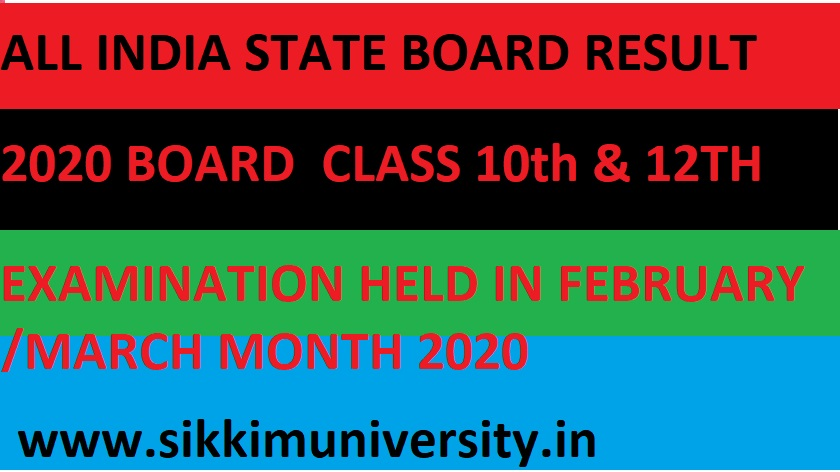 Board Exam Results 2020-2021 - All State Board Exam Results March 10th & 12th Class Name wise/Roll Number Wise 1