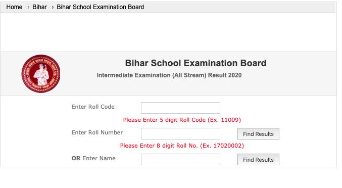 Bihar Board Intermediate Results 2020 Live