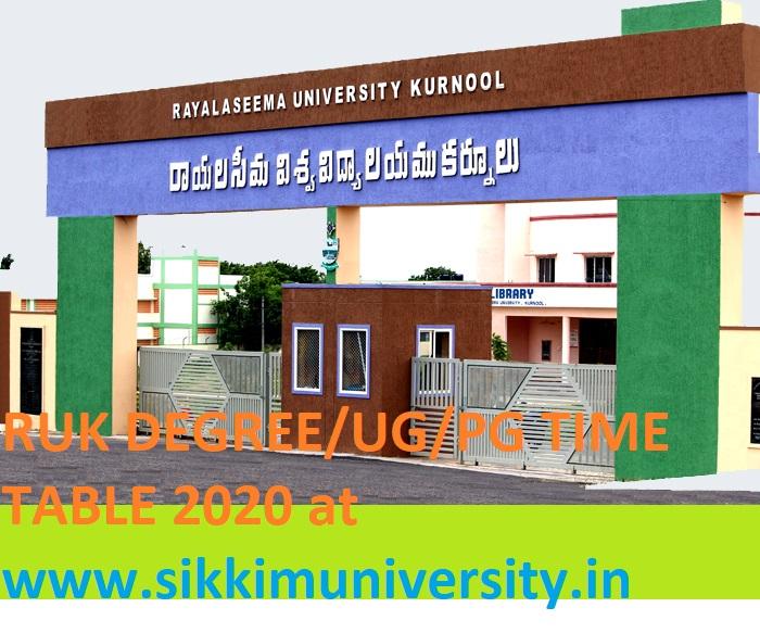 Rayalaseema University Degree 2/4/6 Sem Time Table 2020 -Download RUK UG/PG April/May Exam Date Sheet 2020 at Ruk.ac.in 1
