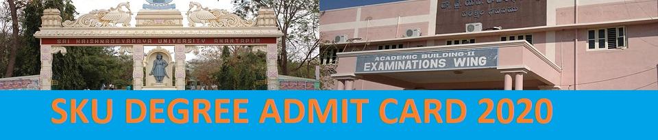 SKU Degree Hall Ticket April 2021 B.Ed/ BA/BBA/BSC/BCOM Exam Part I, II, III Skuniversity.ac.in 1
