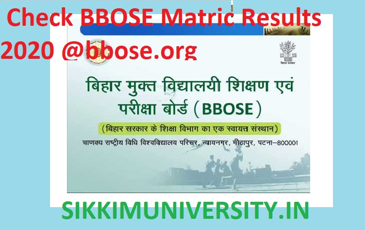 Bihar Open School 10th Result 2020 - Check BBOSE Matric Results 2020 @bbose.org 1