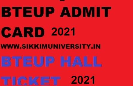 BTEUP Diploma Exam Admit Card 2021@bteup.ac.in Diploma Exam Roll No. 1