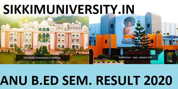 ANU B.Ed I/II/III/IVth Sem Results 2020 - Nagarjuna University B.Ed Semester Results 2020 Marksheet 1
