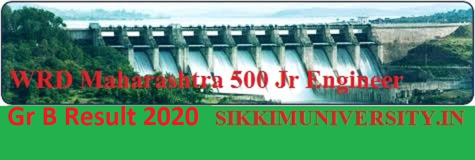 WRD Maharashtra 500 Jr Engineer Result 2020 - Check WRD Maharashtra JE Gr B Merit List/Cut Off Marks 2020 1
