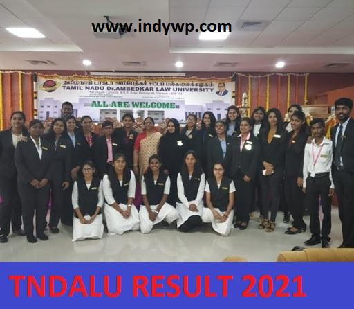 TNDALU Semester Results 2021 - Check Tamil Nadu Ambedkar Law University Results 2021 at Tndalu.ac.in 1