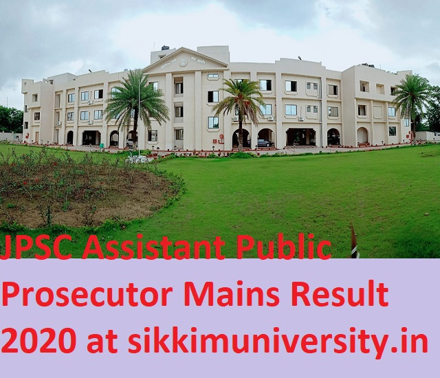 JPSC 143 Assistant Public Prosecutor Mains Result/Cut Off Marks 2020 - Jpsc.gov.in Asst Public Prosecutor Mains Merit List 2020 1