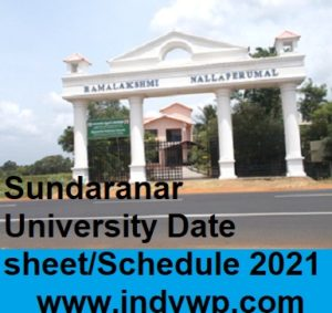 Manonmaniam Sundaranar University Date sheet/Schedule 2021 1