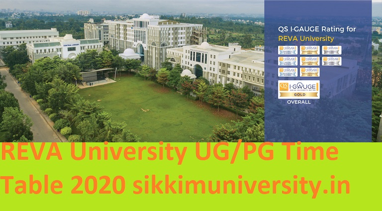 REVA University UG/PG Exam Time Table 2021- Download Reva University Bangalore All Courses Exam Date Sheet 2021 1