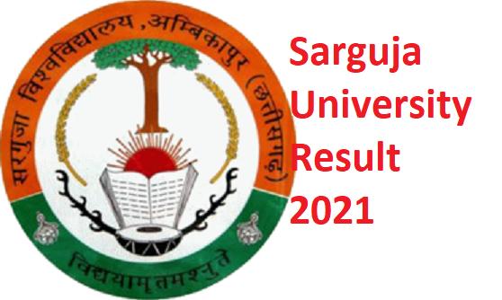 Sarguja University B.A Ist/ 2nd/ 3rd Year Result 2021 - Sarguja Vishwavidyalaya BA Result 2021 1
