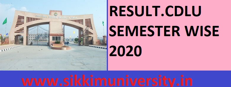 CDLU Result II, IV, VI Semester Exam 2020 - Results.cdlu.ac.in सिरसा Check 2/4/6 Sem BA BSC BCOM MA Result 2020 1