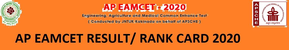 AP EAMCET  Result Rank Card 2020 - Sche.ap.gov.in Check Direct Link Download AP EAMCET Score 2020 1