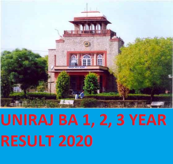 Rajasthan University  BA Ist/ 2nd/ 3rd year Result 2020 - Result.Uniraj.ac.in  BA Result  Part I/ II/ III Exam 2020 1